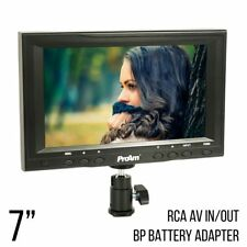 ProAm USA 7 Inch Iris SD On-Camera/Crane LCD Monitor Kit with RCA AV Inputs