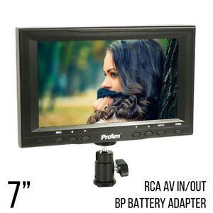 ProAm USA 7 Inch Iris SD On-Camera LCD Monitor Kit with RCA AV Inputs