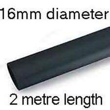 16mm Tubo Termo Retráctil - 2 metros - Negro Cable Eléctrico Funda
