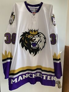 PRO STOCK MANCHESTER MONARCHS AHL HOCKEY TEAMS JERSEY BRAND NEW WITH PANT STRAP