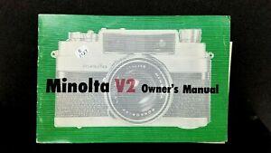 ORIGINAL Minolta V2 Rokkor PF 45mm camera Owner's Operating Manual Instructions
