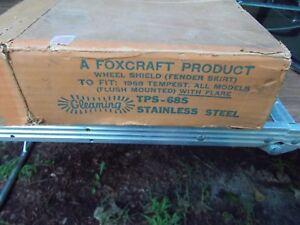NOS Foxcraft Stainless Steel Rear Fender Skirts 1968 1969 Pontiac Tempest LeMans