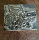 Vintage ISEU Letterpress Printing Block 327 V-8 Engine Motor Jeep AMC Rambler