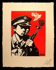OBEY / SHEPARD FAIREY Letter Press CHINESE SOLDIERS print Edition 406 of 450