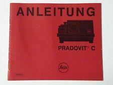 Originale Istruzioni d'uso per Proiettore diapositive Leitz Pradovit C/CA