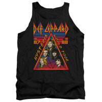 Def Leppard HYSTERIA TOUR 1987 Vintage Style Licensed Adult Tank Top All Sizes