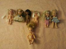 7 Vintage Mattel Remco Totsy Dolls