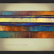 ORIGINAL PAINTING Abstract Modern Large Impasto 24X48 Wall Art by Thomas John