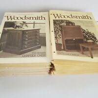 Vintage Lot of 83 Issues of Woodsmith Magazine 1983-1997 Carpentry Woodworking