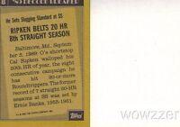 1990 Topps #8 Cal Ripken Blank Front ERROR Card! Vintage over 20 Years Old!