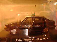 Modellino ALFA ROMEO 75 CARABINIERI 1.8 I.E. con blister originale  Scala 1/43