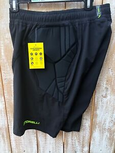 Storelli Exoshield Men's Black Goalkeeper Padded Shorts Sz Medium