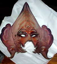 sculpted leather INCORONATO Venice Carnivale Mask  signed by artist Anna Sindoca