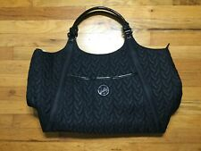 Vera Bradley Traveler Bag Tote Weekender Travel - Black Quilted