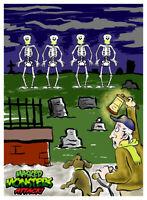 Masked MONSTERS! Skeleton Dance DIGITAL TRADING CARD haunted mansion disneyland