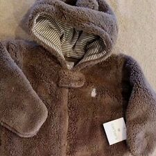 NEW! CARTER'S 0-9 MONTH BROWN FUZZY BEAR SNOWSUIT ADORABLE