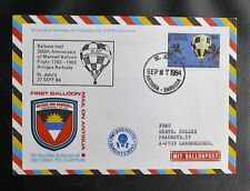 BALLOON MAIL : 200th ANNIVERSARY OF MANNED BALLOON FLIGHT 1783 / 1983 ST JOHN'S