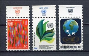 19164A) UNITED NATIONS (New York) 1982 MNH** Definitives + lab