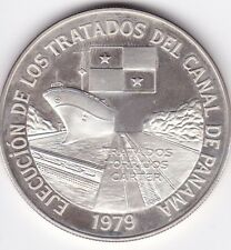 Panama : 10 Balboas 1979 Proof  ( Canal Teatry ) silver