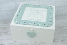 Memory Box Keepsakes Memories Are Like Keepsakes Treasured Green Lace F1440C