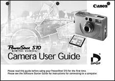 Canon Powershot S10 Digital Camera User Guide Instruction  Manual