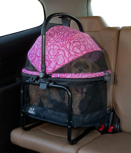 Pet Gear View 360 Booster Dog Cat Travel System Car Seat Booster Pink Floral NEW