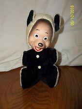 "Bear Black Cream Plush Rubber Face 7"""