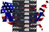 "(6) MULCHING Blades Replace Bad Boy 038-5350-00,038535000, 0385350 fits 48"" Deck"