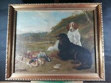 SPORTING HUNTING DOGS VINTAGE PAINTING SIGNED J. BEETHAM DATED 1929 (????)