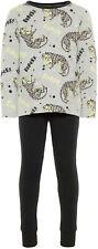 Name it Jungen Schlafanzug lang Gr. 86-110 Tiger Jersey Pyjama glow in the dark