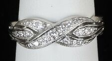 Vintage Platinum Jabel Diamond Anniversary Wedding Band Ring Size 5.5
