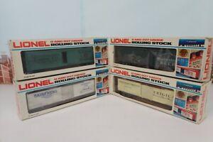 Set Of 4 Lionel O Gauge Refrigerator Cars 6-5700 & 6-5701 & 6-5703 & 6-5704