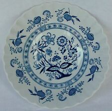 """Meakin, J & G Blue Nordic Classic White~Blue Onion Coupe Cereal Bowl 6 1/2"""""""