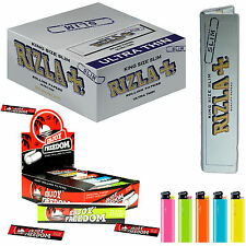 3200 CARTINE RIZLA LUNGHE SILVER 2 Box + 3200 FILTRI di CARTA Enjoy Freedom 2box