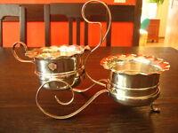 reizendes Milch & Zucker Set Milchkännchen Zuckertopf mit Ständer silber plated
