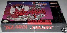 Taz-Mania (Super Nintendo) -Brand New!! Rare! h-seam!