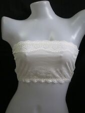 WHITE CAMI  LACE TUBE 128 - Wear over your bra to conceal cleavage (Free size)