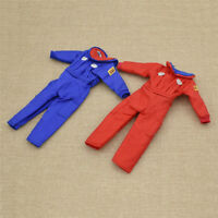 1/6 Blue Red Jumpsuit Clothes Models for 12'' Body Figures Doll Accessories DIY
