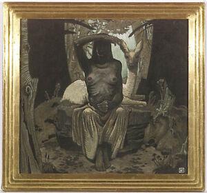 "Erwin Stolz (1896-1987) ""Saint Genevieve"", Tempera, ca. 1925 (m)"