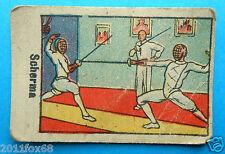 figurines cromos figurine sportive sport anni 30 40 v.a.v. vav scherma fencing