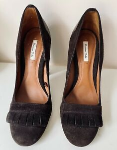 Massimo Dutti brown suede women's shoes - size 6