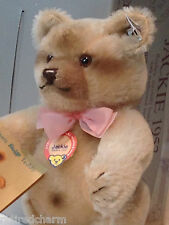 "❤STEIFF JACKIE BEAR REPLICA 1953 NEW IN BOX 0190/25 10"" 1986-87 Jointed Teddy❤"