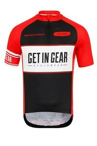 Boys Cycle Jersey, Get In Gear, Spartan, Short Sleeve Age 12/14 Adult XS