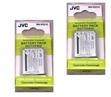 TWO 2X Genuine JVC BN-VG212 BN-VG212U BN-VG212US Batteries for GZ-V500 GZ-V505