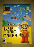 Super Mario Maker Bundle SEALED with Idea Book Nintendo Wii U WiiU