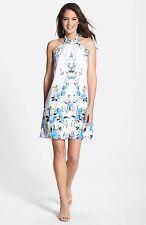 Cynthia Steffe Women's 'Monte' Print Crêpe de Chine Halter Dress-10-$228