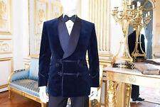 Men Elegant Luxury Stylish DESIGNER Blue Smoking Jacket Party Wear Blazers UK