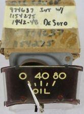 1942 1946 1947 1948 Desoto NOS MOPAR Oil Pressure Gauge w/ Purple Face