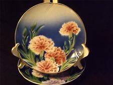 Antique Porcelaine Opaque de Gien Salad Plates 1886-1938 Vivid Colors Set 2