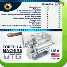 "MTG Tortilla Machine - Roller & Crank Full PK 2 Cutters Included 3.5"" and 4.5"""
